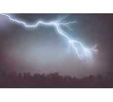 Storm Clouds and Lightning Photographic Print