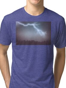 Storm Clouds and Lightning Tri-blend T-Shirt