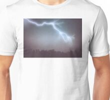 Storm Clouds and Lightning Unisex T-Shirt