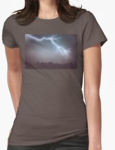 Storm Clouds and Lightning Womens Fitted T-Shirt