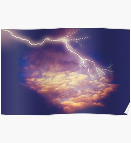 Storm Clouds and Lightning 2 Poster