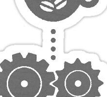 Programmer coding Sticker