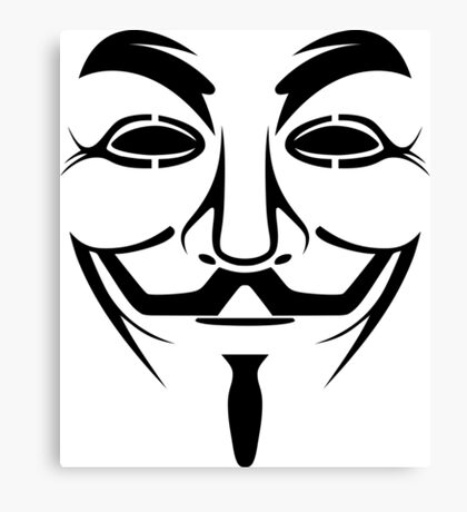 Anonymous Guy Fawkes Protest V For Vendetta Canvas Print