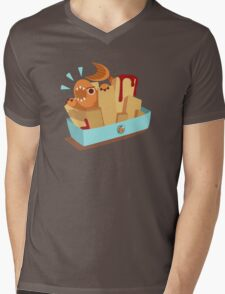 Fish N Chips Mens V-Neck T-Shirt