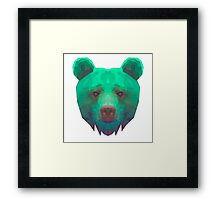 The low poly Bear Necessities Framed Print
