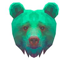 The low poly Bear Necessities Photographic Print