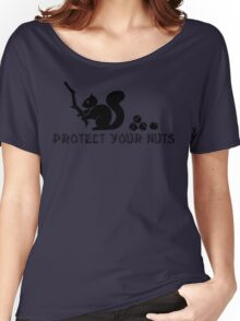 Protect your nuts Women's Relaxed Fit T-Shirt