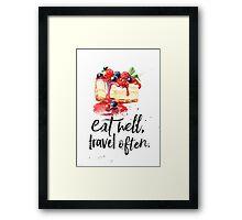 Cheesecake Eat well Framed Print