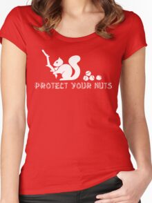 Protect your nuts Women's Fitted Scoop T-Shirt