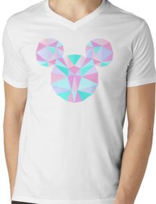 Crystal Mouse Mens V-Neck T-Shirt