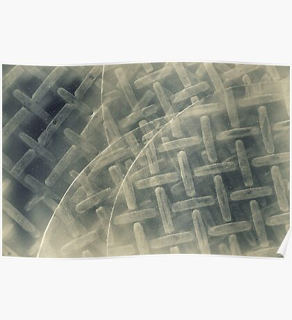 Rice Paper Disc Abstract Poster