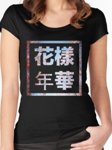 BTS HYHH 花樣年華  with Pink Flowers Women's Fitted Scoop T-Shirt