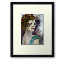 Lady in Green Framed Print