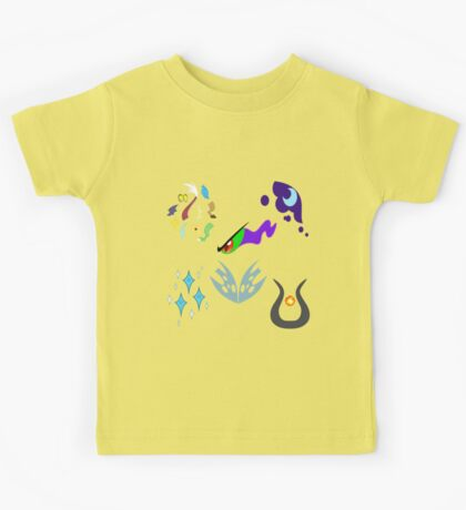 My little Pony - Villains of Equestria Cutie Mark (with Nightmare Rarity) Kids Tee