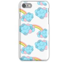 Vector seamless pattern with the clouds and rainbow iPhone Case/Skin
