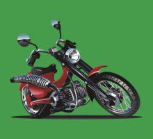 Cartoon Motorcycle One Piece - Short Sleeve