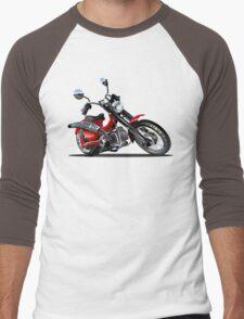 Cartoon Motorcycle Men's Baseball ¾ T-Shirt