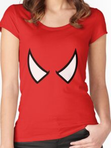 SPIDERMAN EYES - drawing Women's Fitted Scoop T-Shirt