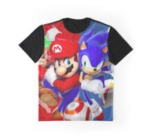 Mario vs Sonic Graphic T-Shirt