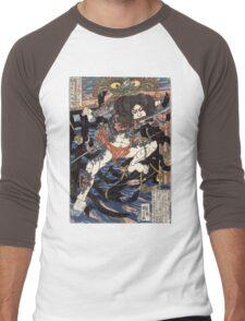 Lang Libai And Fei Zhangan - Kuniyoshi Utagawa - 1826 - woodcut Men's Baseball ¾ T-Shirt