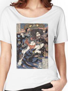 Lang Libai And Fei Zhangan - Kuniyoshi Utagawa - 1826 - woodcut Women's Relaxed Fit T-Shirt