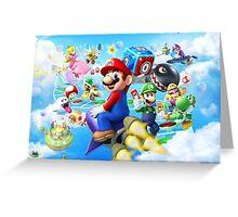 Mario World - Sky Greeting Card