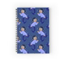 Star Mermaid Blue Pattern Spiral Notebook