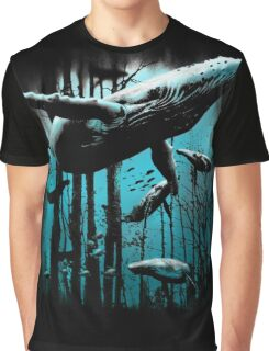 Whale Forest Graphic T-Shirt