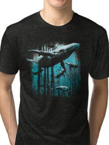 Whale Forest Tri-blend T-Shirt