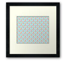 Cute Blonde Angel Pattern Framed Print