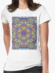 PSYCHEDELIC Stars Womens Fitted T-Shirt