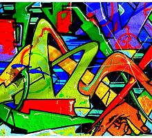 Colorful graffiti wall art Photographic Print