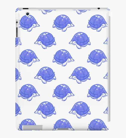 Blue and White Turtle Pattern iPad Case/Skin