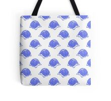 Blue and White Turtle Pattern Tote Bag