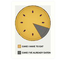 Cake Chart! Art Print