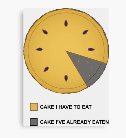 Cake Chart! Canvas Print