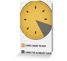 Cake Chart! Greeting Card