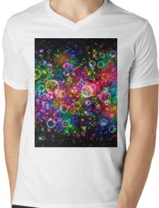 PSYCHEDELIC Buble Mens V-Neck T-Shirt