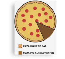 Pizza Chart! Canvas Print