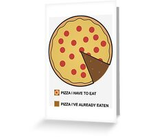 Pizza Chart! Greeting Card