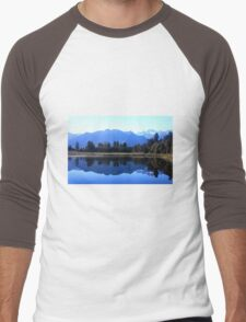 Reflections - Lake Matheson, New Zealand Men's Baseball ¾ T-Shirt