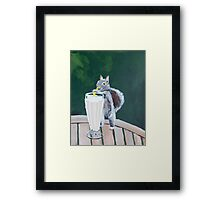 'Squirrel Thief' by Jensen Hoswell (2016) Framed Print