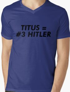 Titus Hitler Mens V-Neck T-Shirt