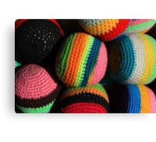 Colorful Knit Balls Canvas Print