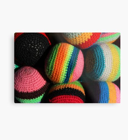 Colorful Knit Balls Metal Print
