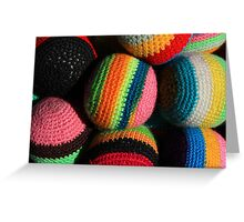 Colorful Knit Balls Greeting Card