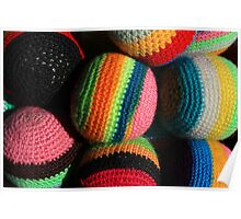 Colorful Knit Balls Poster