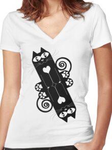 LOVECAT 2 Women's Fitted V-Neck T-Shirt