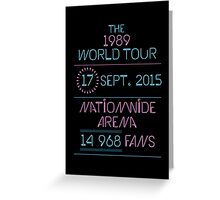 17th September - Nationwide Arena Greeting Card