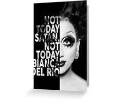 Bianca Del Rio Text Portrait Greeting Card
